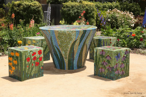 Mosaic Table and Stools